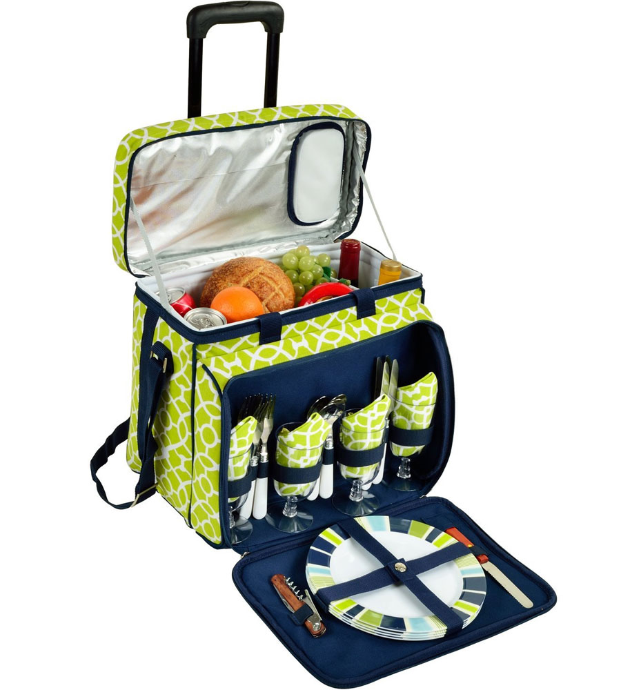 Picnic Cooler With Removable Cart In Picnic